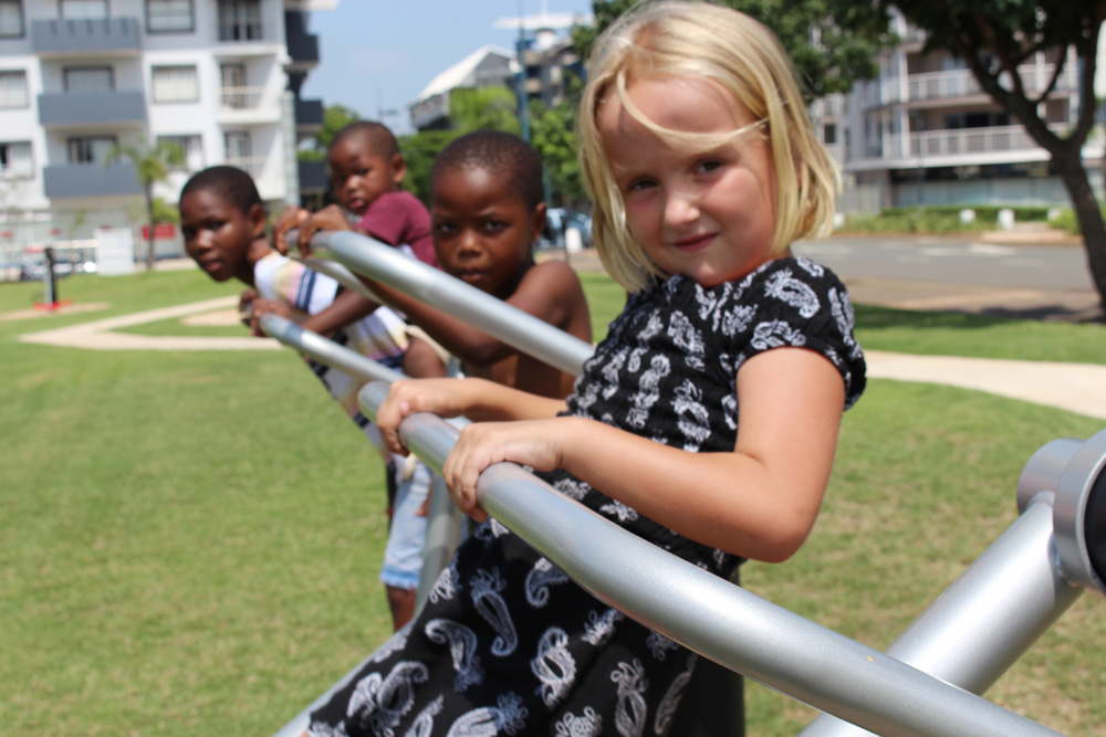 Children have fun at Umhlanga's outdoor gym