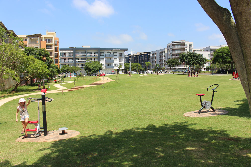 Umhlanga's new outdoor gym has 12 exercise machines