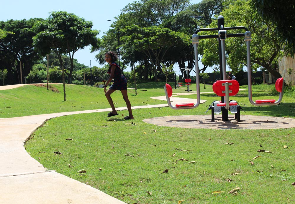 Umhlanga's outdoor gym has 12 exercise machines