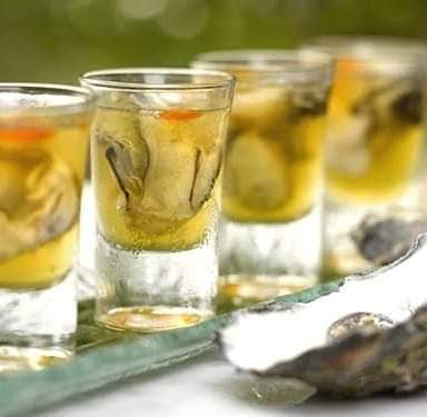 Shots are among the items on the menu at the Oyster and Bubbly Festival