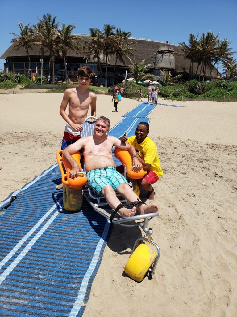 uShaka Marine Beach has special mats and beach wheelchairs to improve access for disabled people.