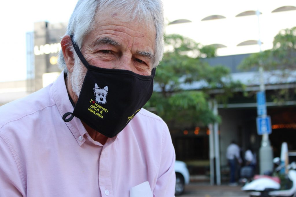 Alwyn Immerman wears mask