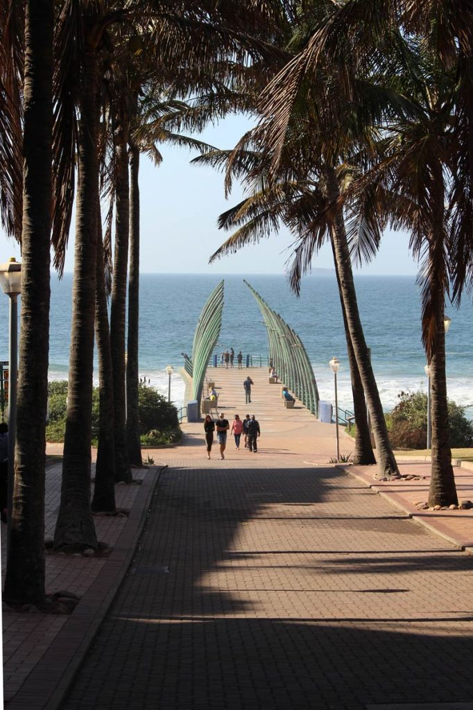 Palms and Umhlanga Rocks whale-bone pier