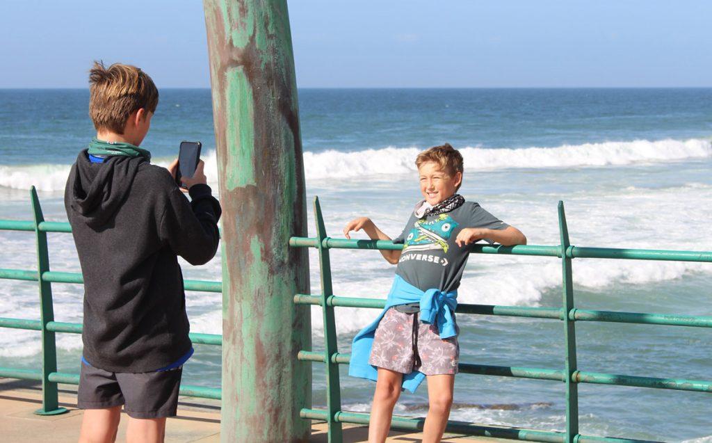 Umhlanga Rock pier - selfie