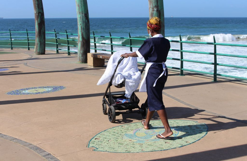 Umhlanga pier - nanny and baby